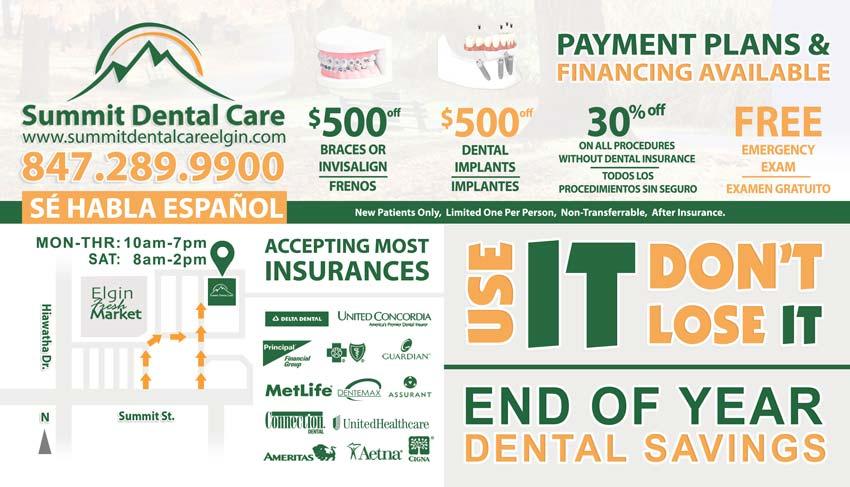 Summit Dental Care Elgin Discounts Summer 2016
